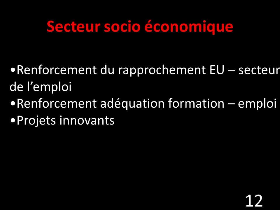 Secteur socio économique