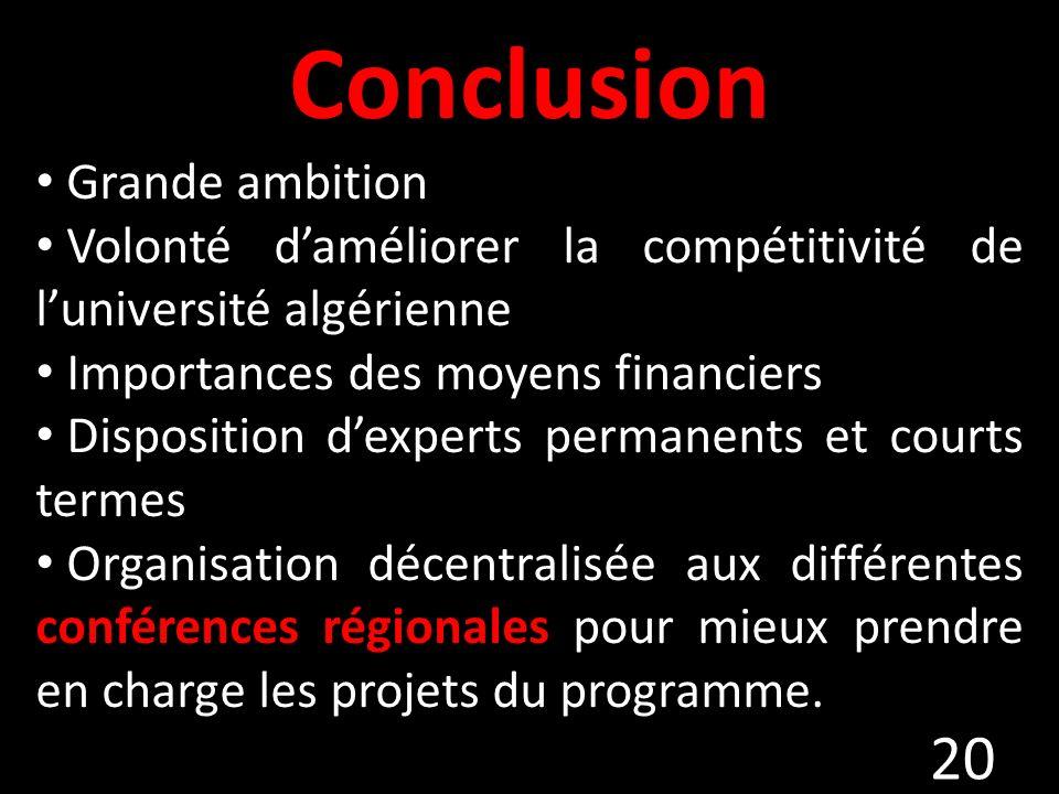 Conclusion Grande ambition