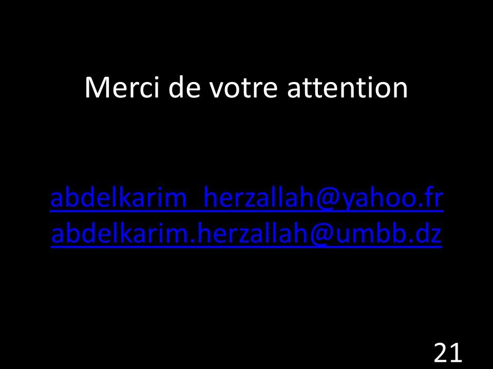 Merci de votre attention abdelkarim_herzallah@yahoo. fr abdelkarim