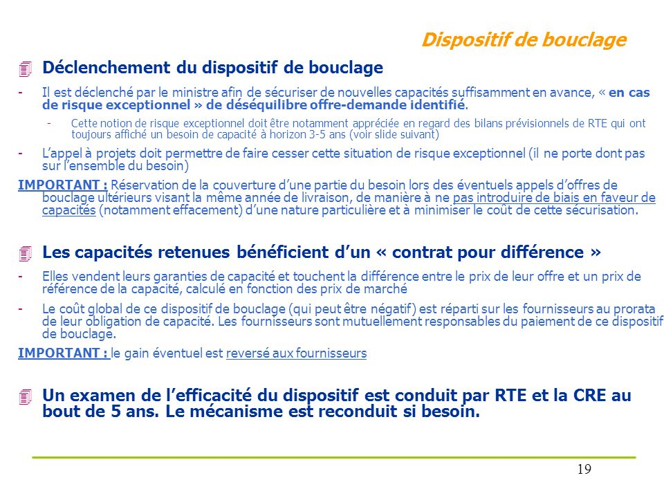 Dispositif de bouclage