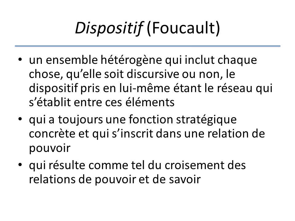 Dispositif (Foucault)