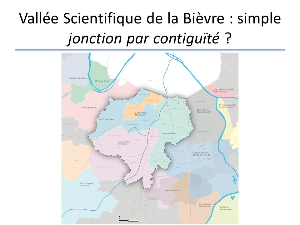 Vallée Scientifique de la Bièvre : simple jonction par contiguïté