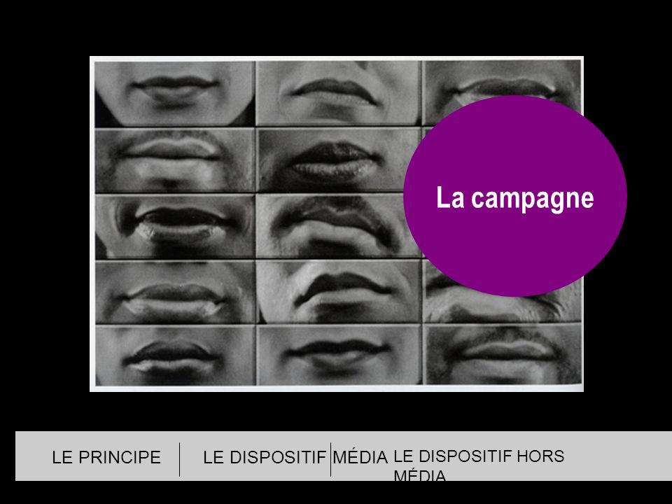 La campagne LE PRINCIPE LE DISPOSITIF MÉDIA LE DISPOSITIF HORS MÉDIA