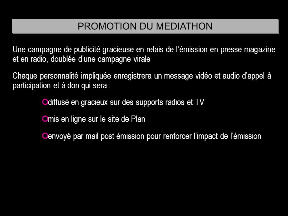 PROMOTION DU MEDIATHON