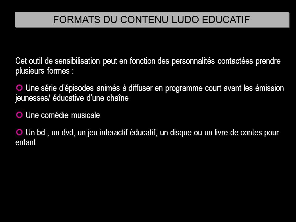 FORMATS DU CONTENU LUDO EDUCATIF