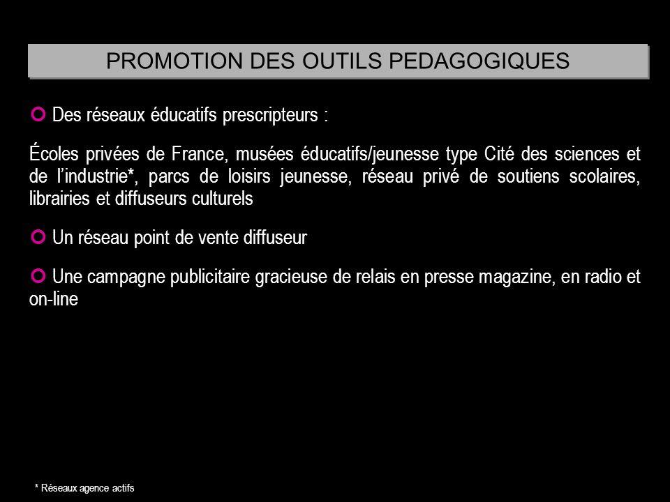 PROMOTION DES OUTILS PEDAGOGIQUES