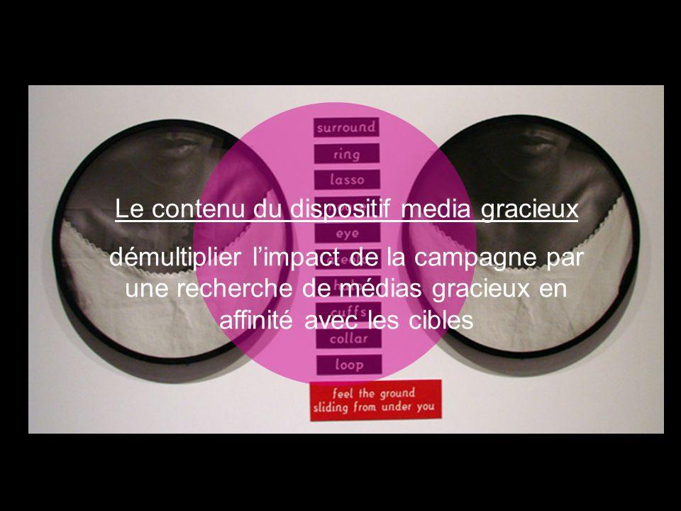 Le contenu du dispositif media gracieux