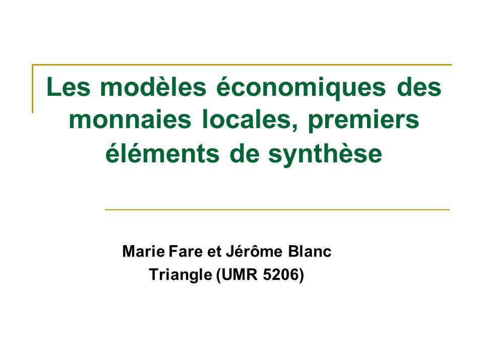 Marie Fare et Jérôme Blanc Triangle (UMR 5206)
