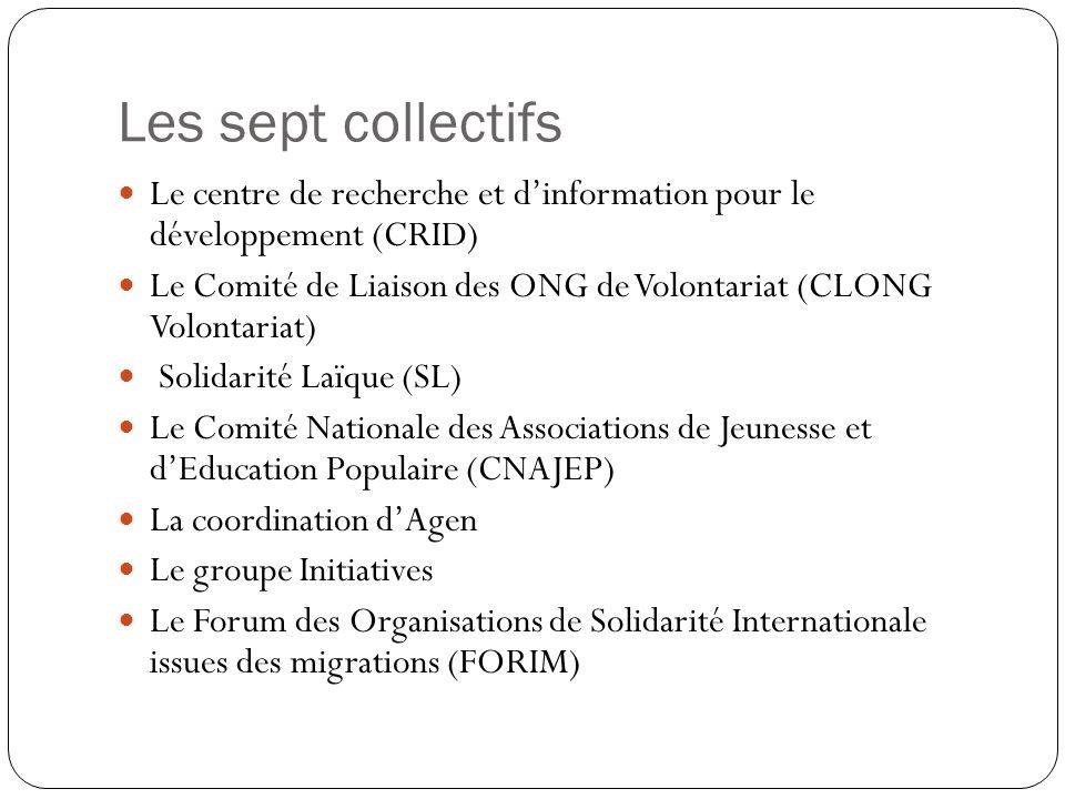 Les sept collectifs Le centre de recherche et d'information pour le développement (CRID)