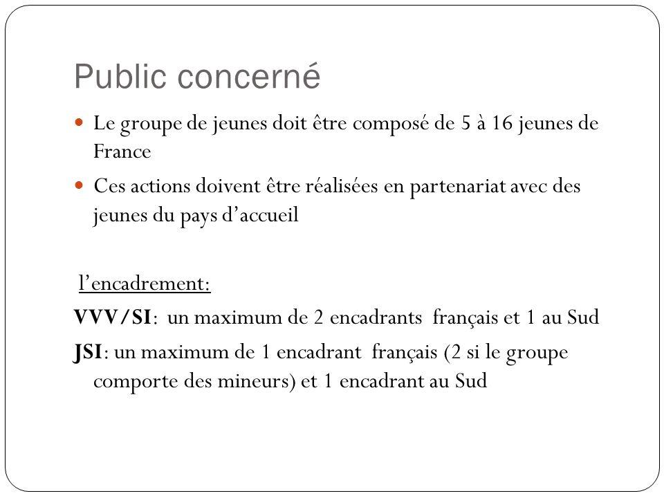 Public concerné Le groupe de jeunes doit être composé de 5 à 16 jeunes de France.