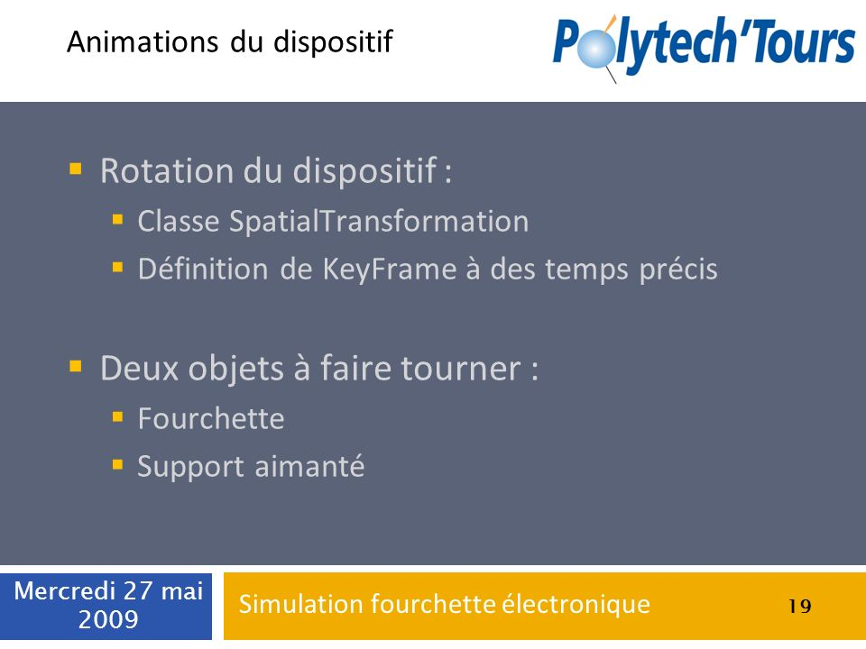 Animations du dispositif