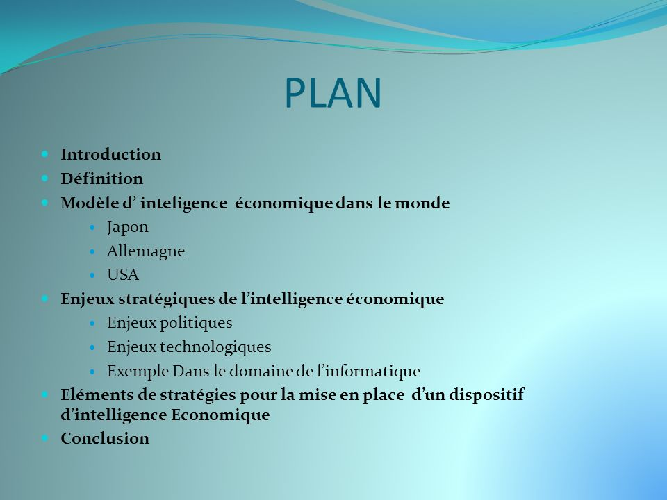 PLAN Introduction Définition