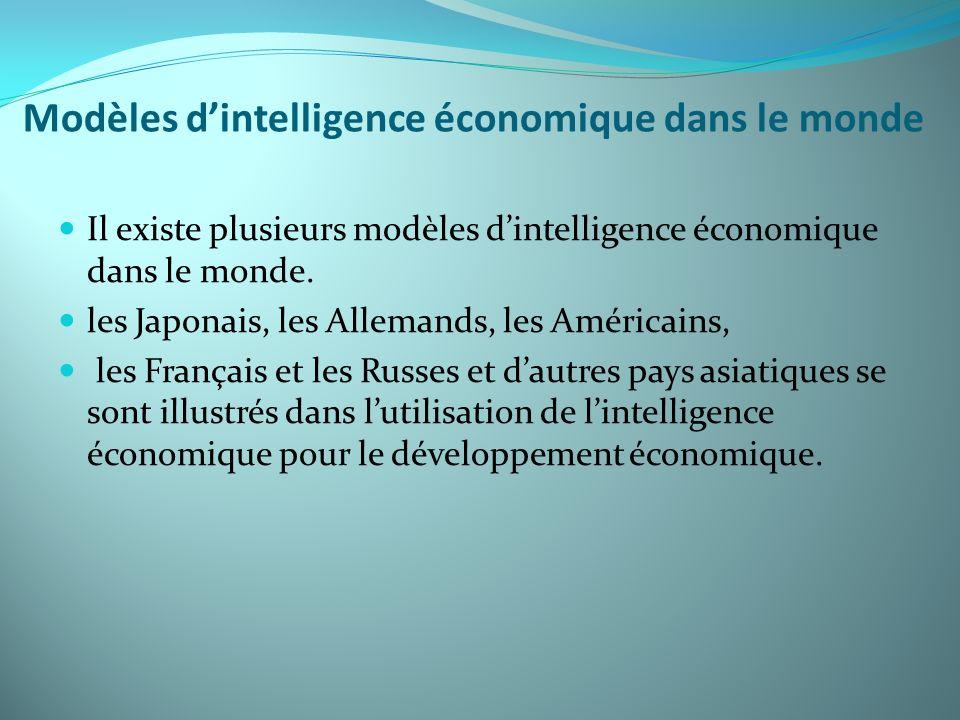 Modèles d'intelligence économique dans le monde