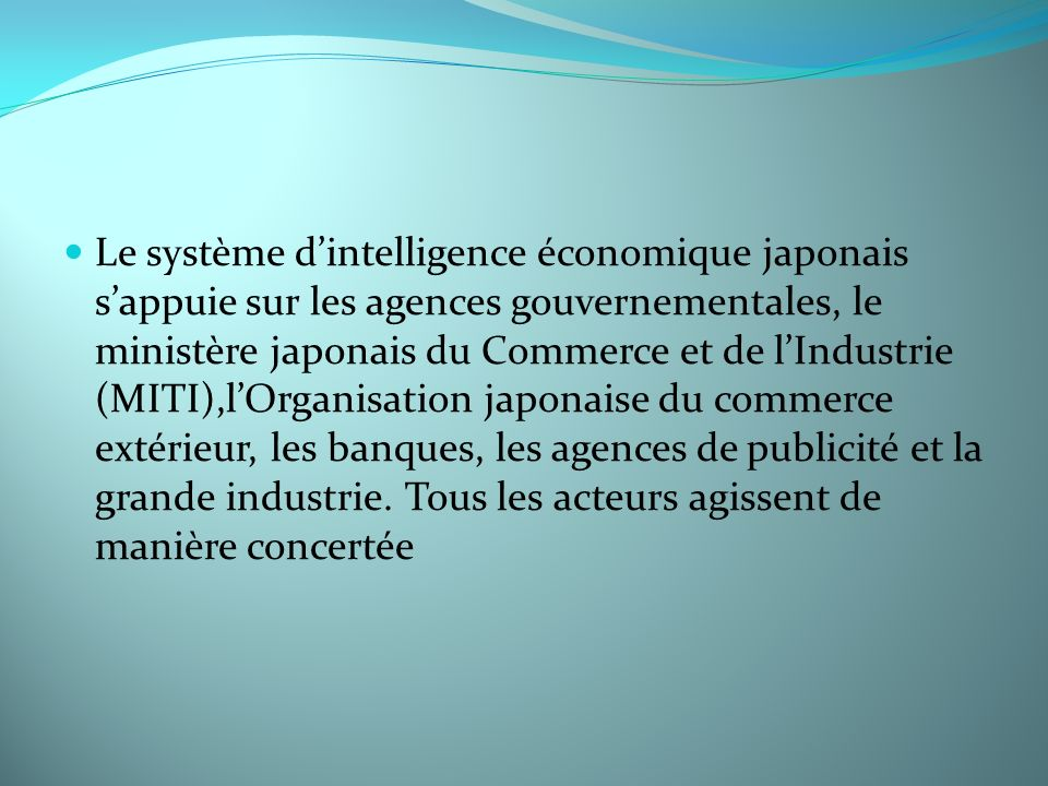 Inteligence economique ppt video online t l charger for Le commerce exterieur du japon