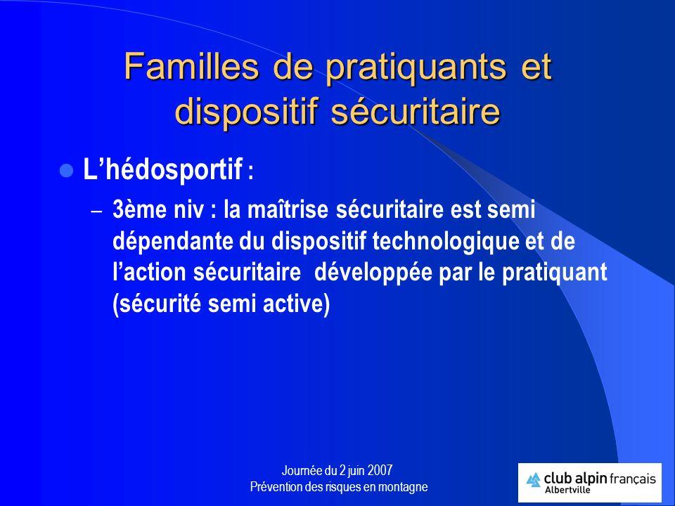 Familles de pratiquants et dispositif sécuritaire