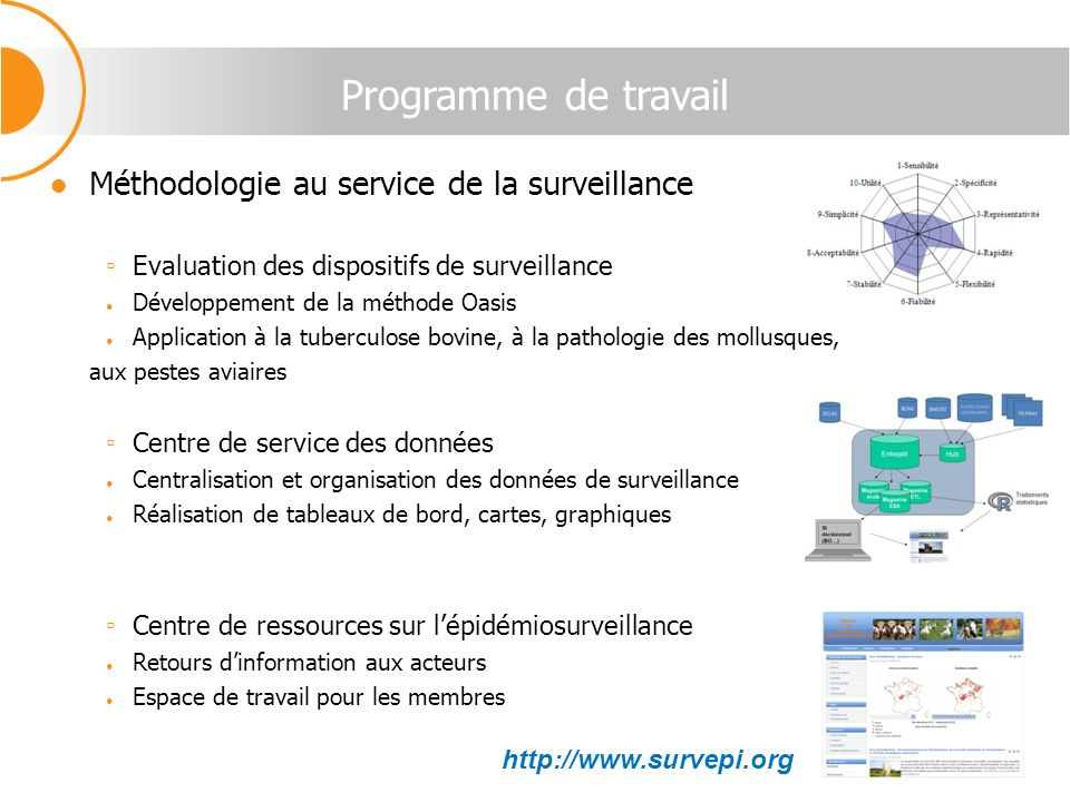 Programme de travail Méthodologie au service de la surveillance