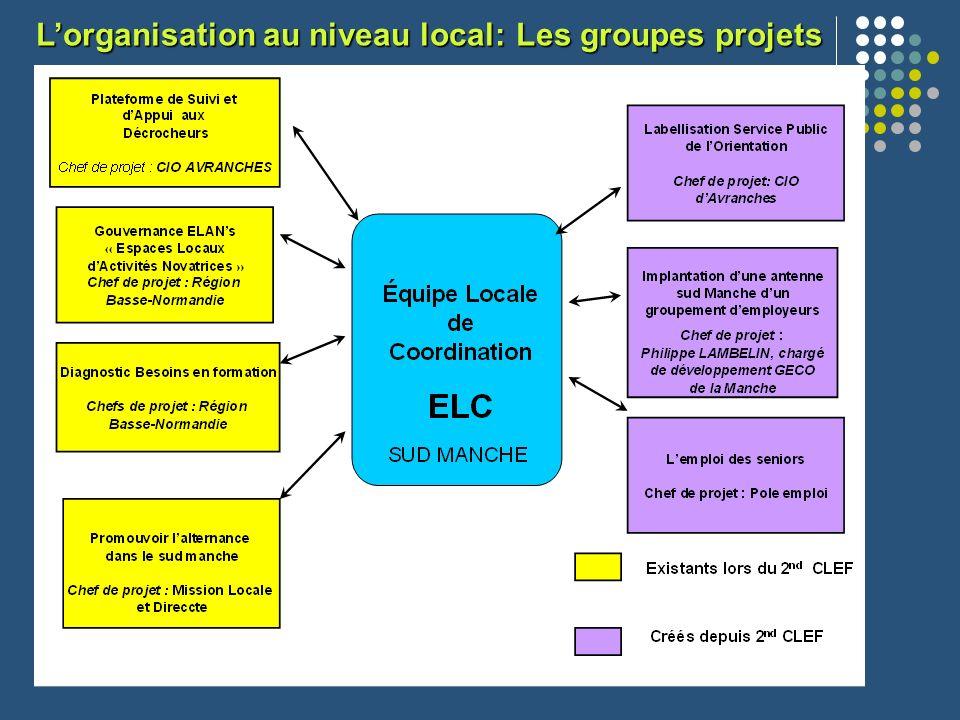 L'organisation au niveau local: Les groupes projets