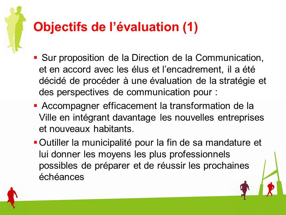 Objectifs de l'évaluation (1)