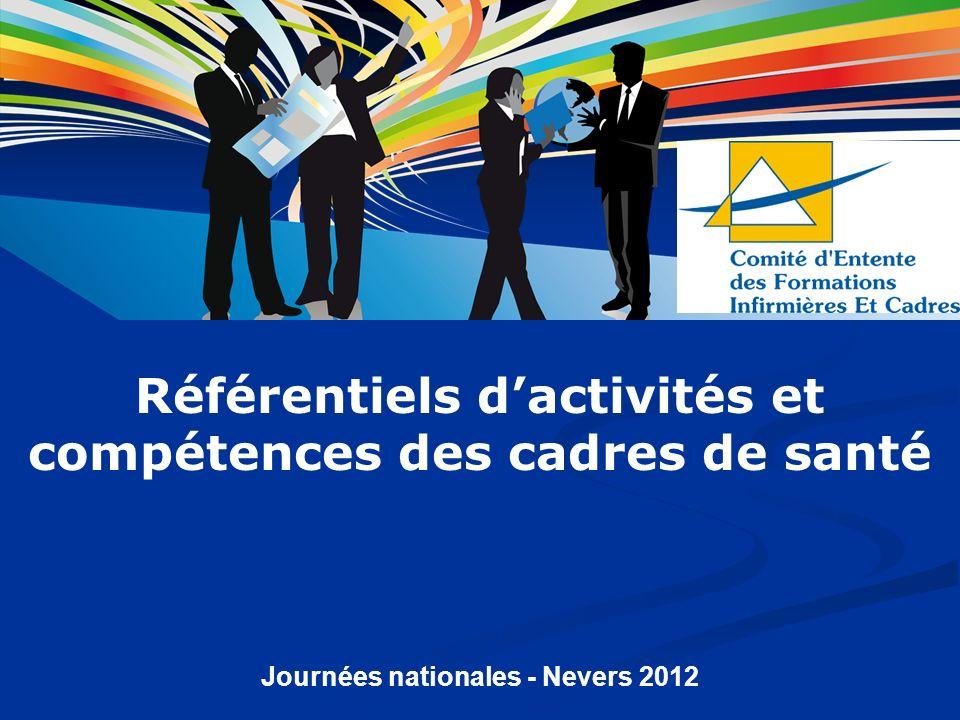 Référentiels d'activités et compétences des cadres de santé