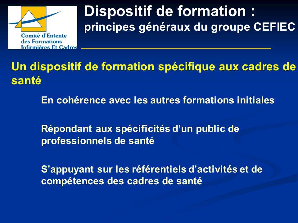 Dispositif de formation : principes généraux du groupe CEFIEC