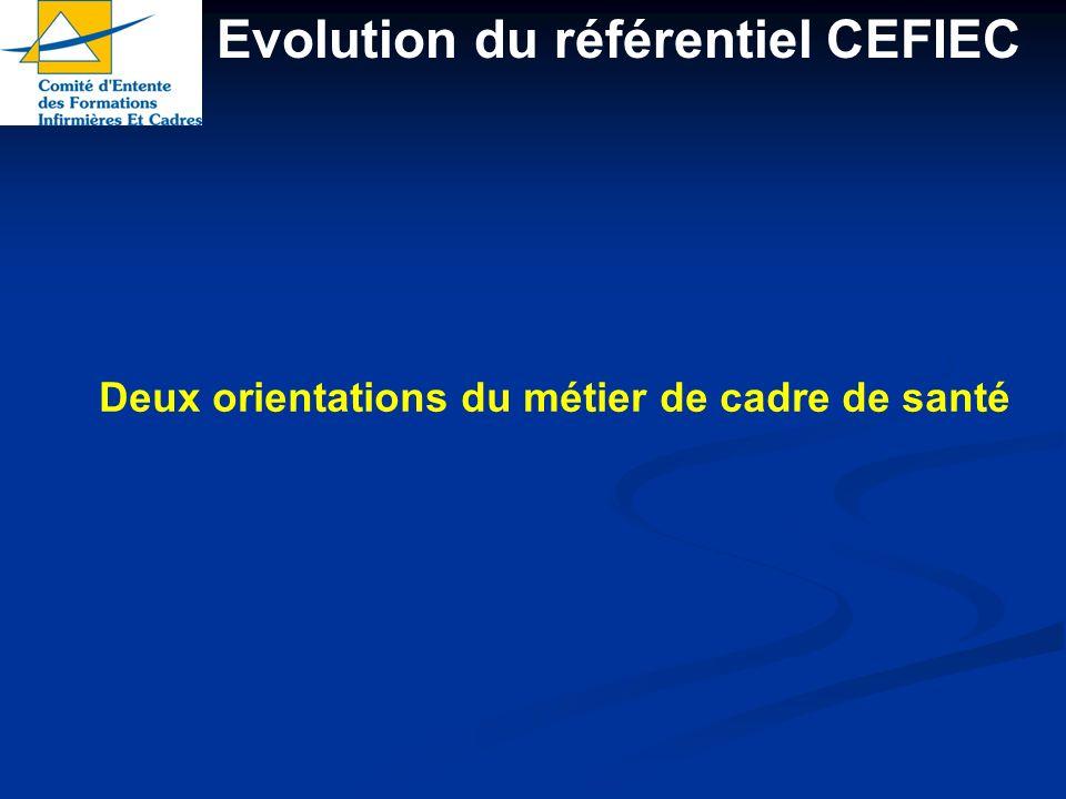 Evolution du référentiel CEFIEC