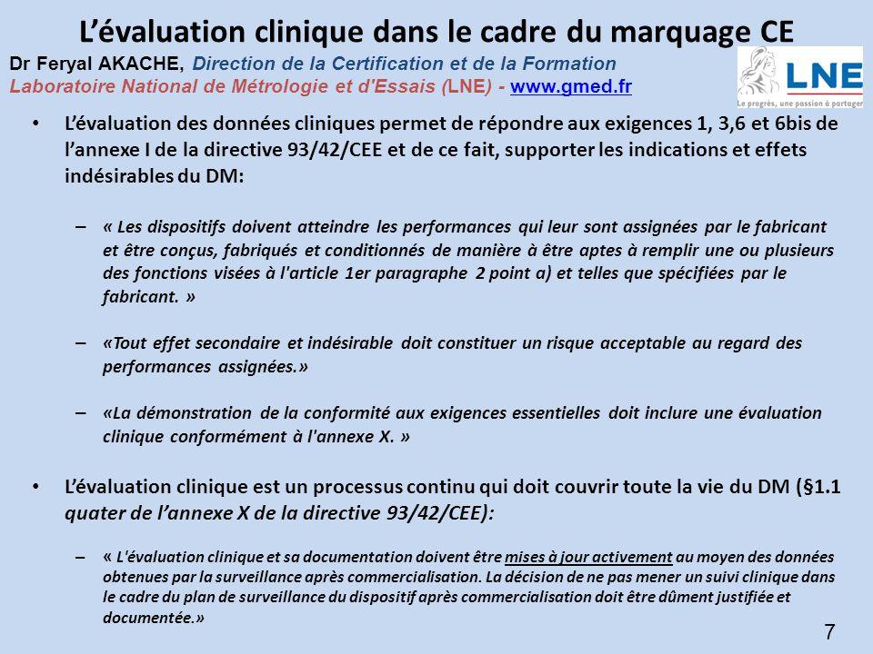 L'évaluation clinique dans le cadre du marquage CE