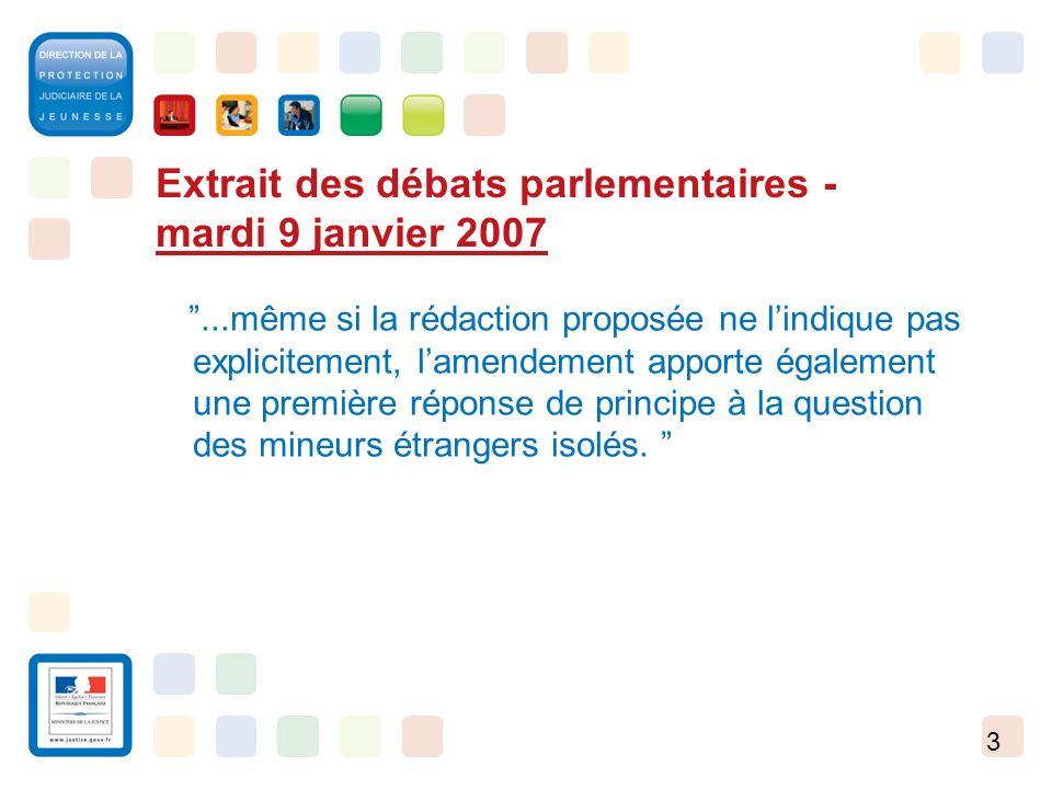 Extrait des débats parlementaires - mardi 9 janvier 2007