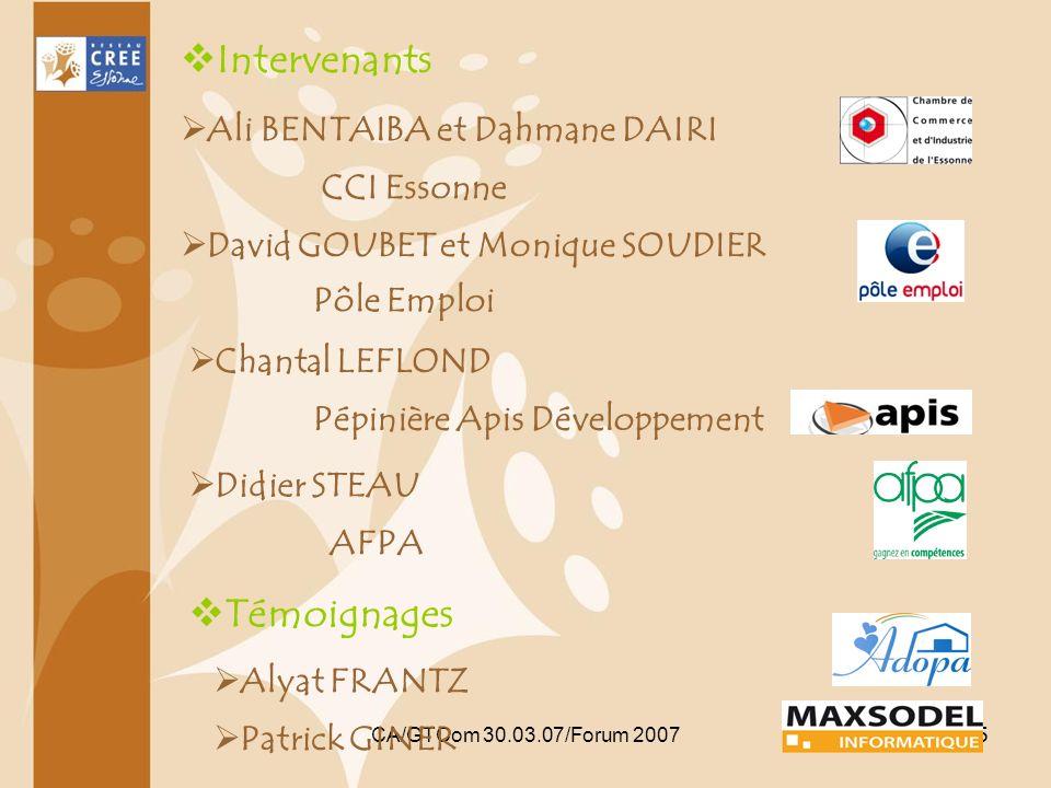 Intervenants Témoignages Ali BENTAIBA et Dahmane DAIRI CCI Essonne