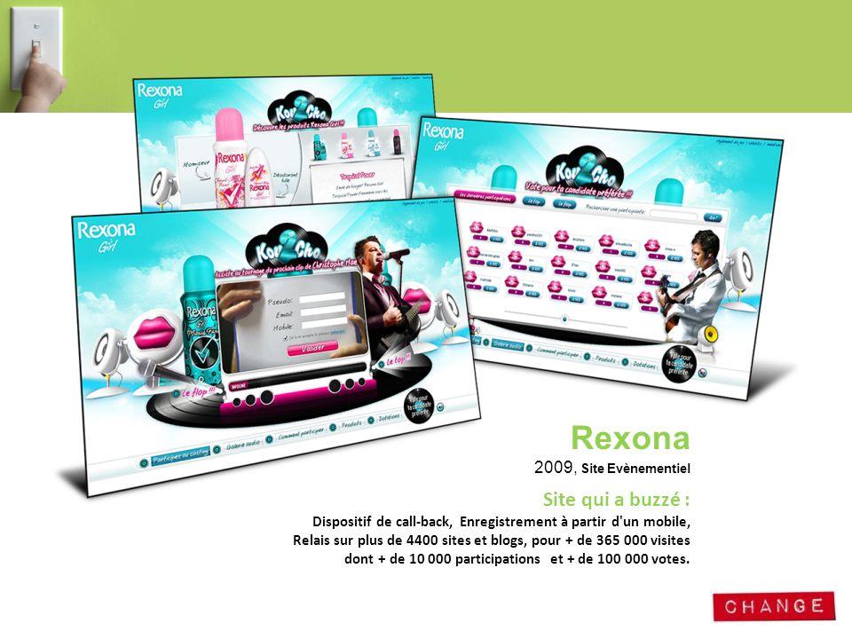 Rexona 2009, Site Evènementiel
