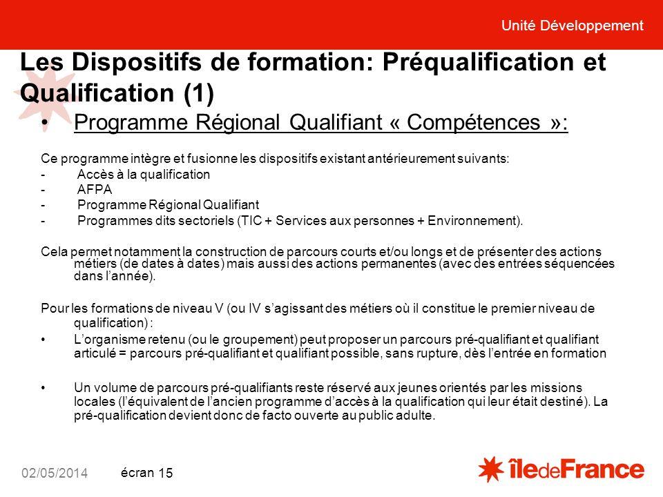 Les Dispositifs de formation: Préqualification et Qualification (1)