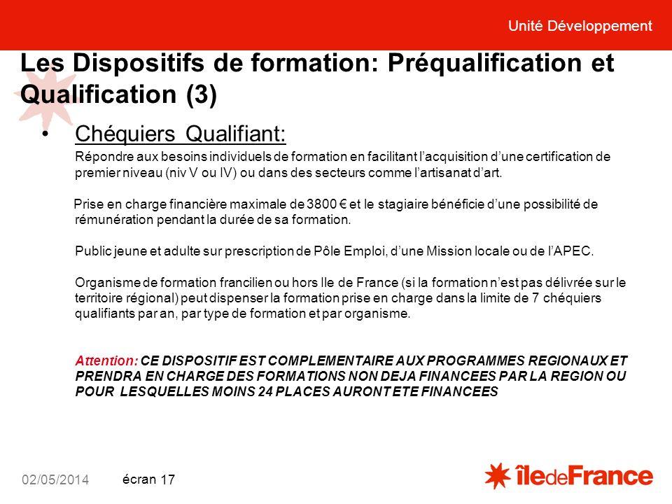 Les Dispositifs de formation: Préqualification et Qualification (3)