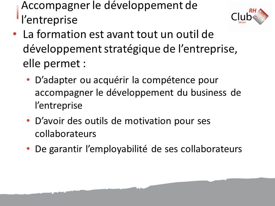 Accompagner le développement de l'entreprise