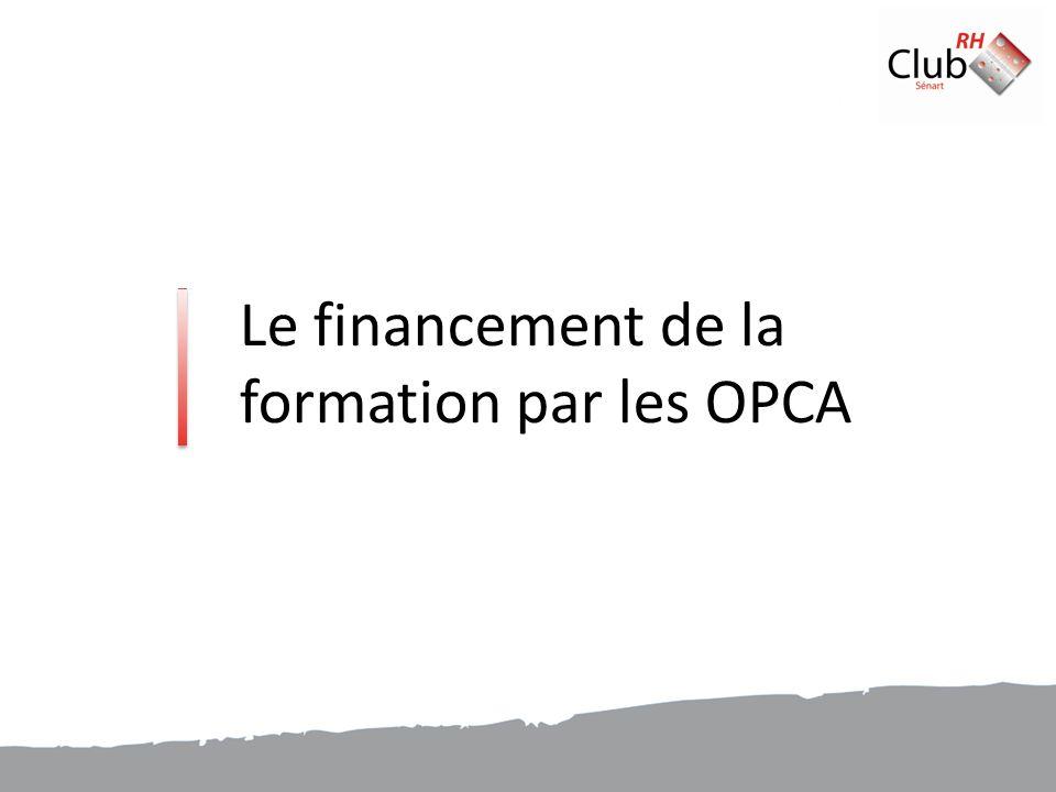 Le financement de la formation par les OPCA