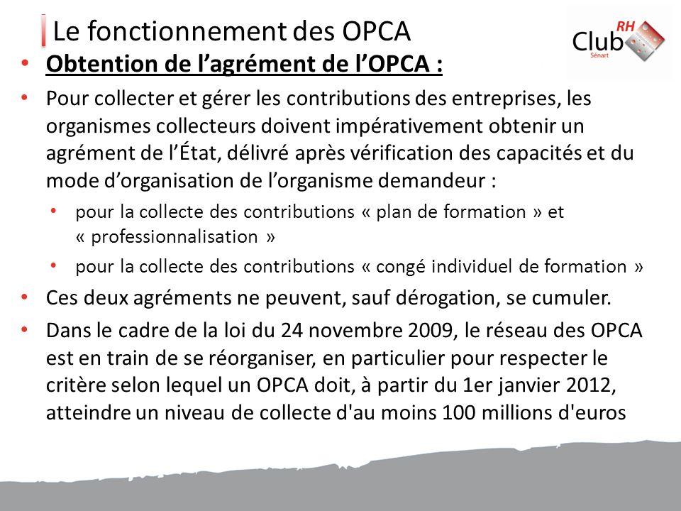 Le fonctionnement des OPCA