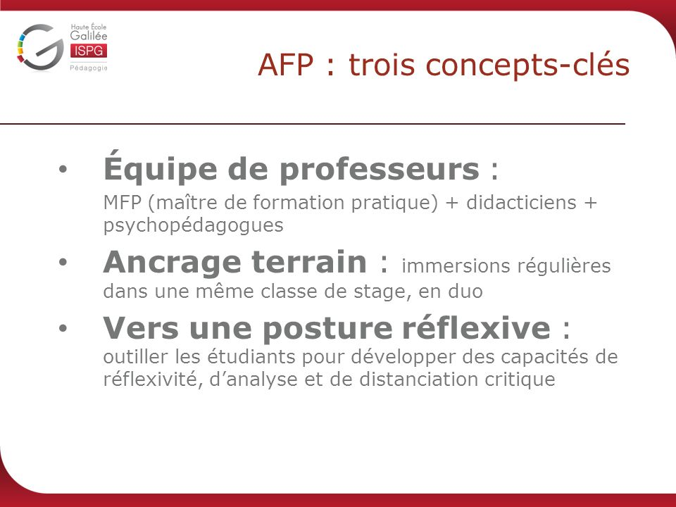 AFP : trois concepts-clés