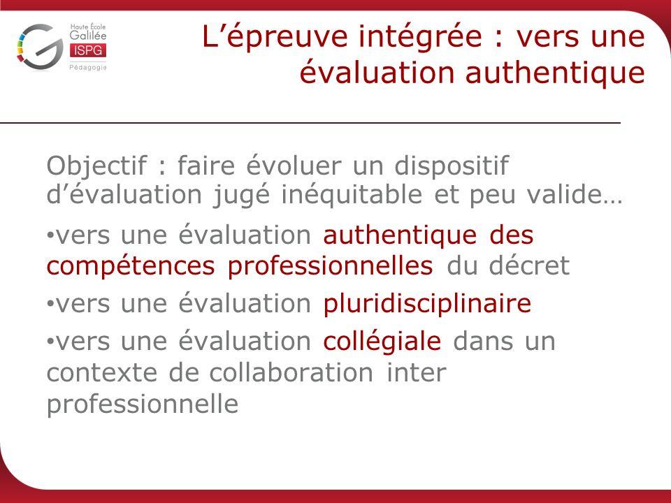L'épreuve intégrée : vers une évaluation authentique