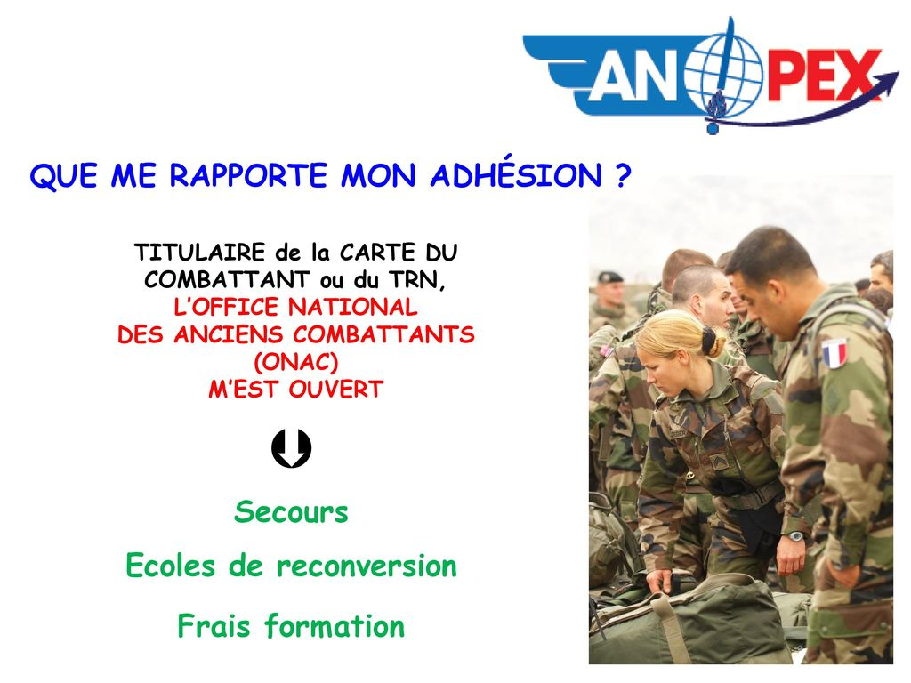 Ppt video online t l charger - Office national des anciens combattants ...