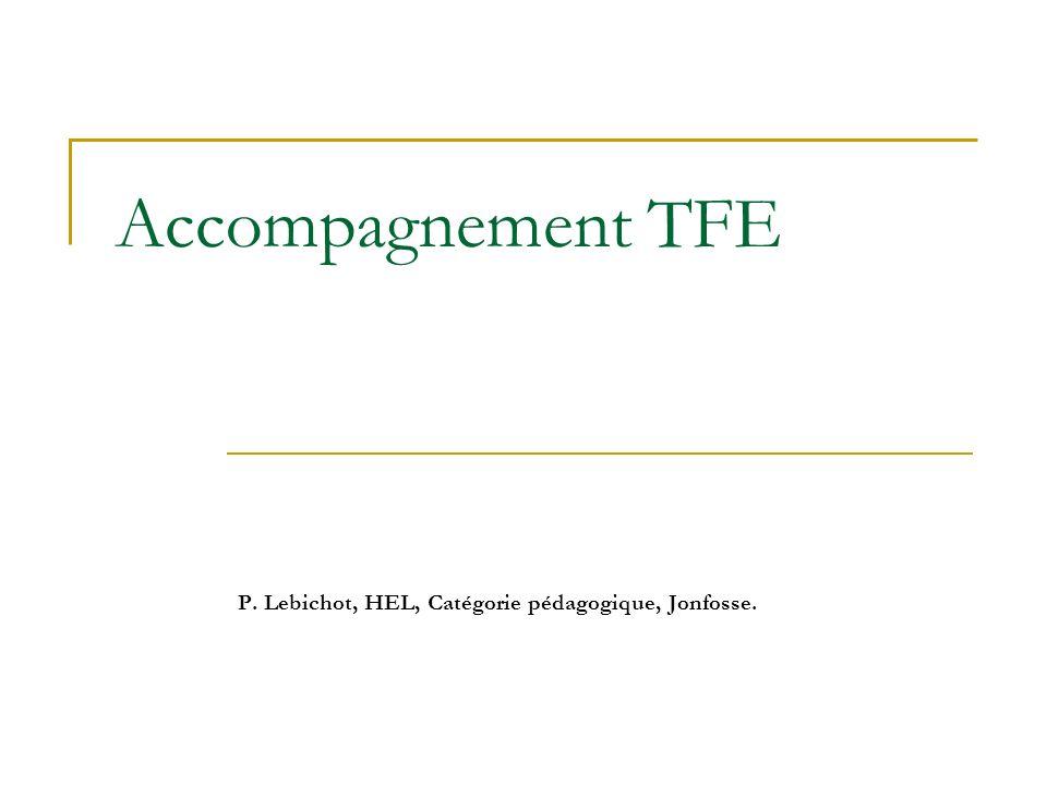 P. Lebichot, HEL, Catégorie pédagogique, Jonfosse.