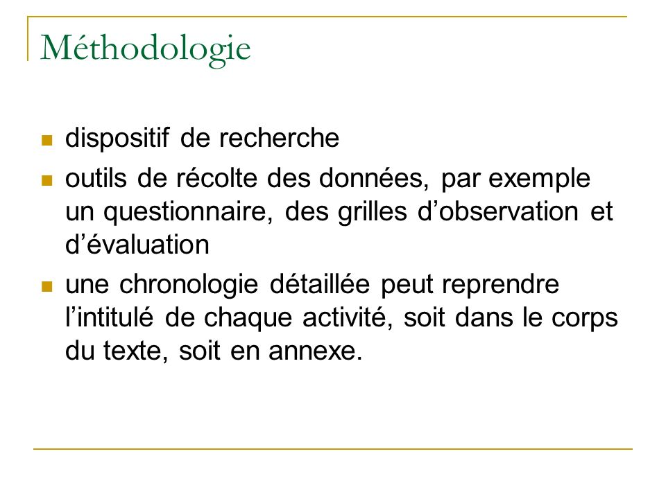 Méthodologie dispositif de recherche