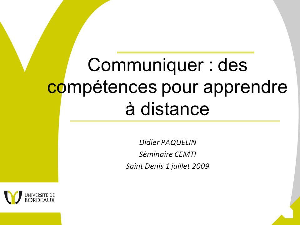Communiquer : des compétences pour apprendre à distance