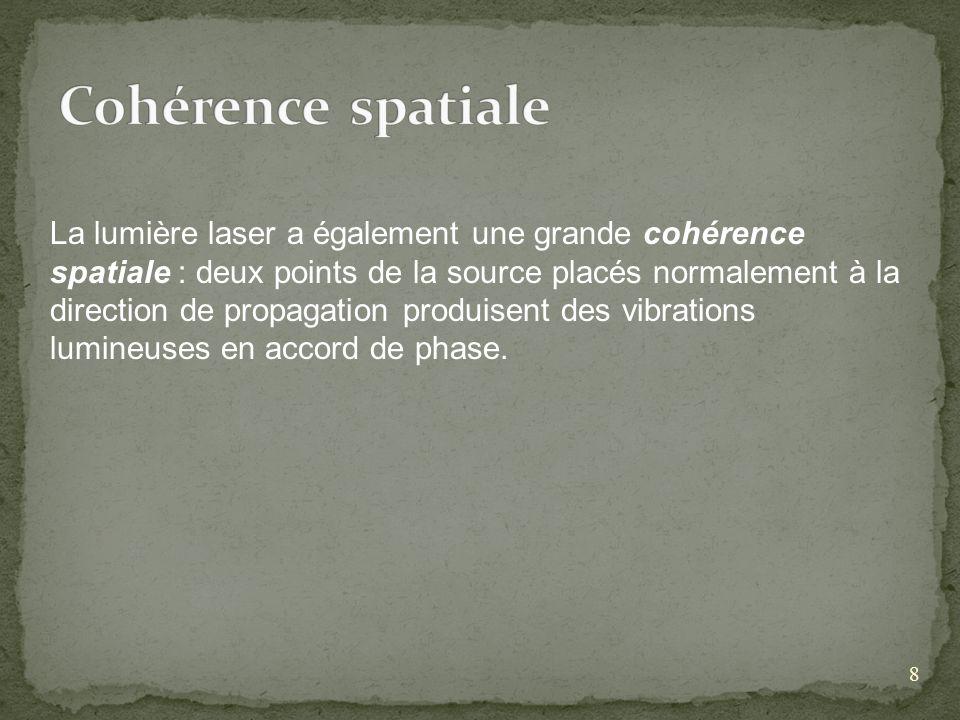 Cohérence spatiale