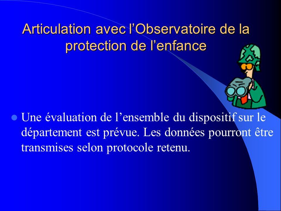 Articulation avec l'Observatoire de la protection de l'enfance