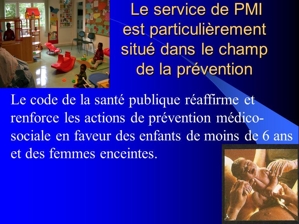 Le service de PMI est particulièrement situé dans le champ de la prévention