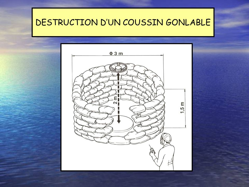 DESTRUCTION D'UN COUSSIN GONLABLE