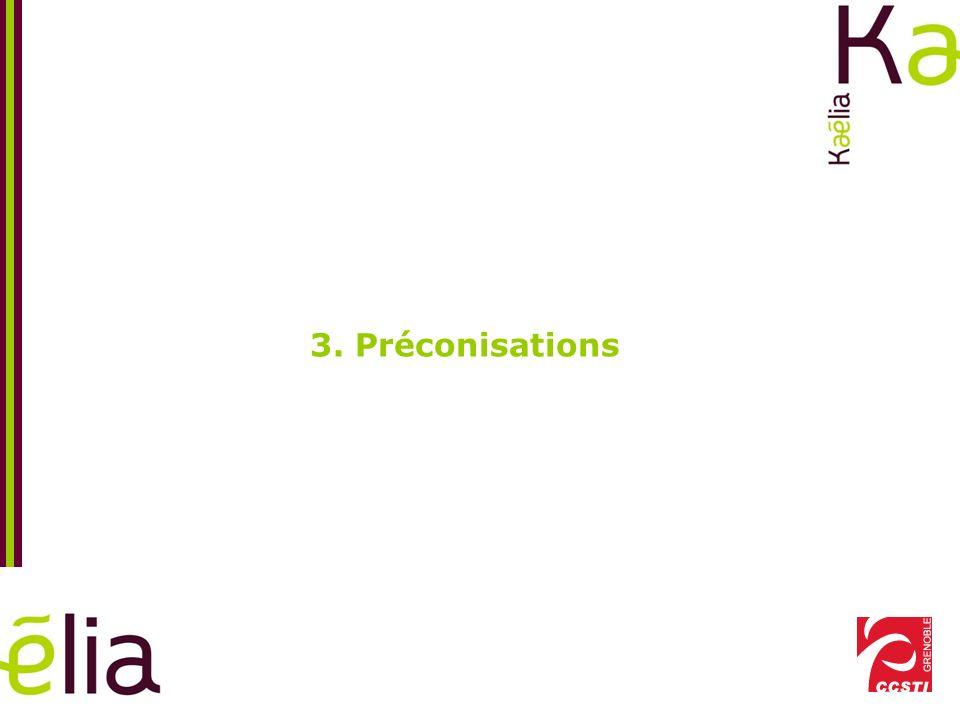 3. Préconisations