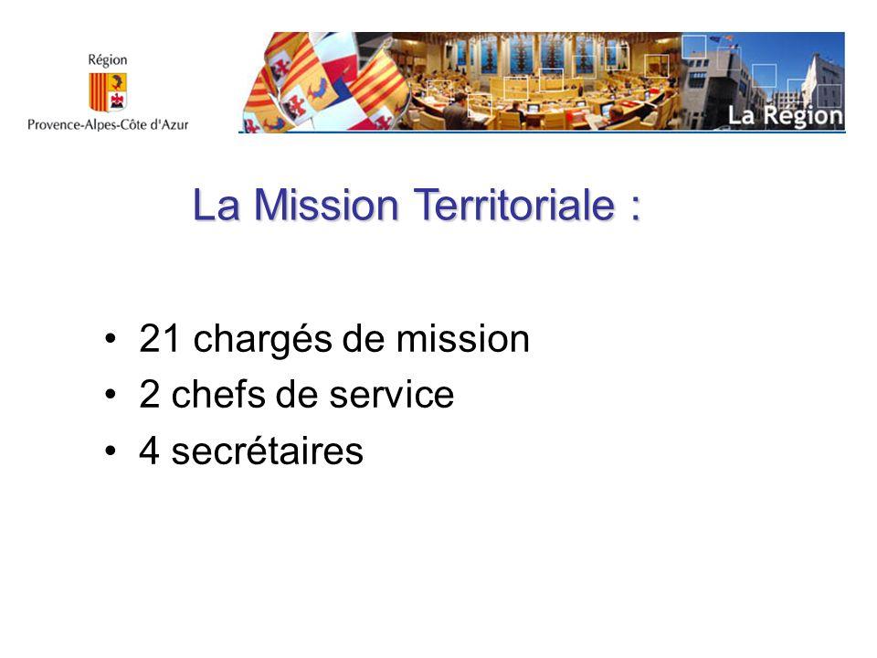 La Mission Territoriale :