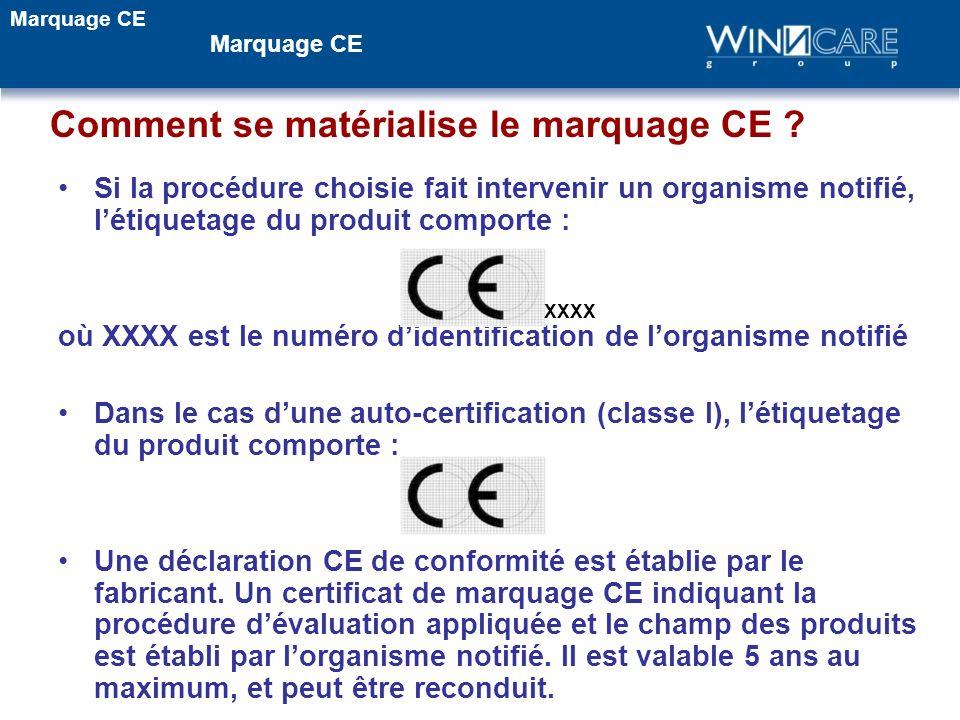 Comment se matérialise le marquage CE