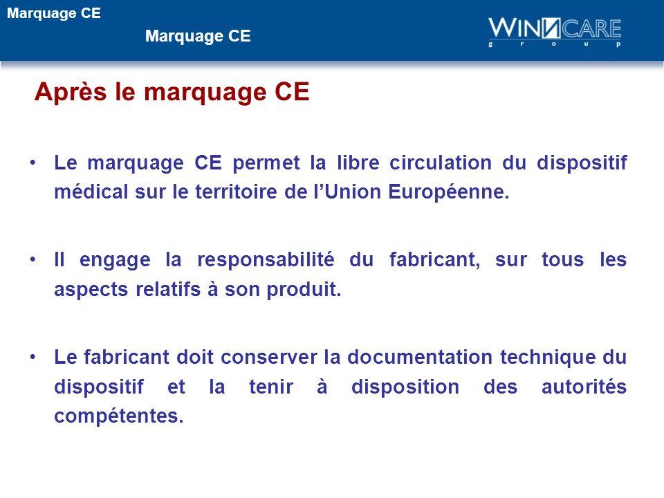 Marquage CE Marquage CE. Après le marquage CE.