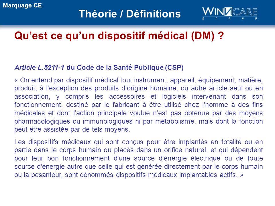 Qu'est ce qu'un dispositif médical (DM)