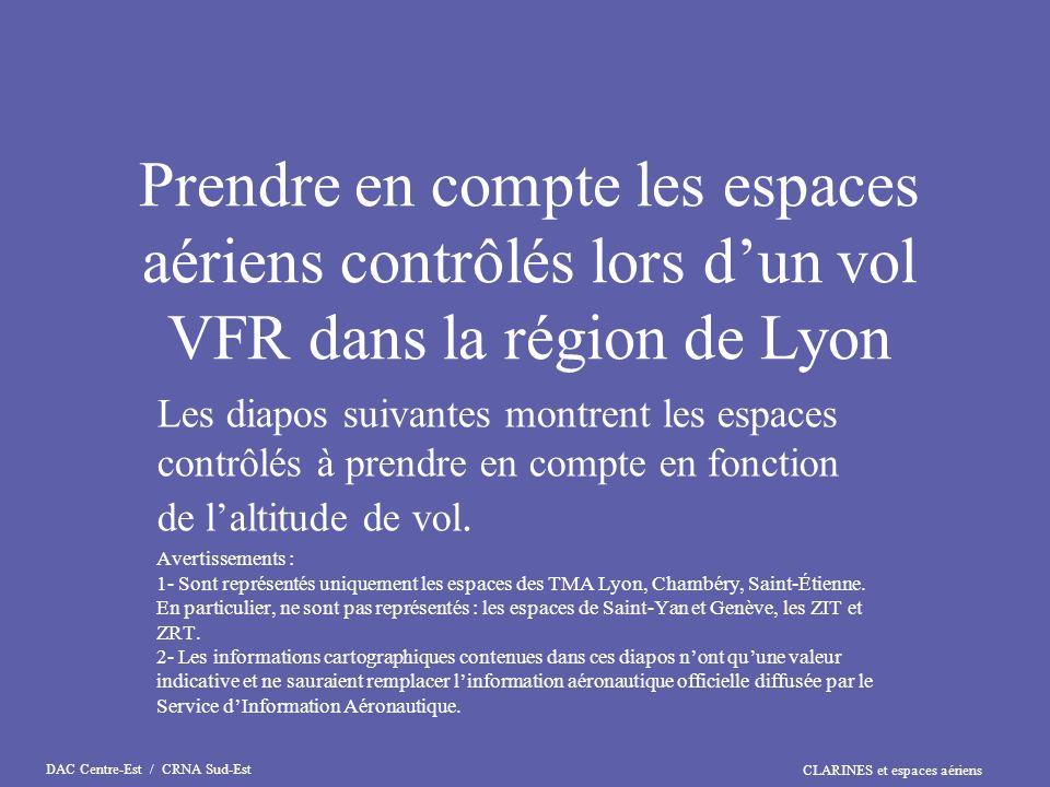 Prendre en compte les espaces aériens contrôlés lors d'un vol VFR dans la région de Lyon